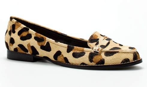 Zara leopard loafer