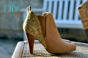 DIY Barneys Co-op Glitter Ankle Boot