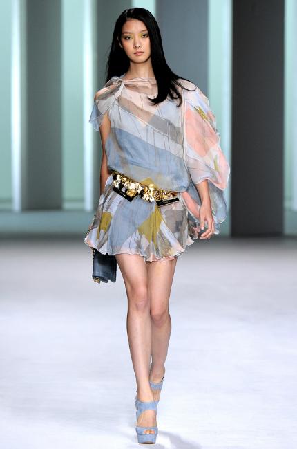 Elie Saab RTW Spring 2011 Chiffon Print Dress