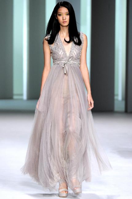 Elie Saab RTW Spring 2011 Chiffon Sequin Dress
