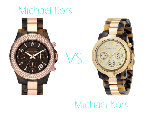 Michael Kors Tortoise Chronograph and Madison Watch