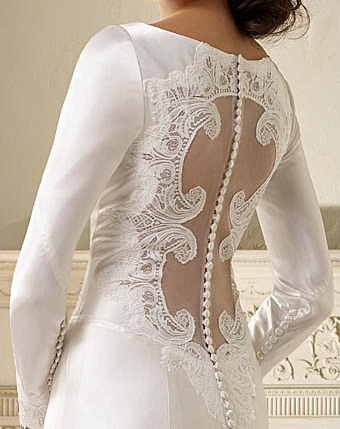 Breaking Dawn Wedding Dress Replica Back Detail Alfred Angelo