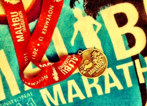 Malibu Marathon Towel and Medal