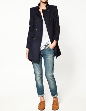 Zara Double-Breasted Coat