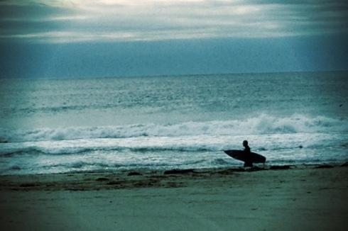 Zuma Beach California Surf Surfer Silhouette