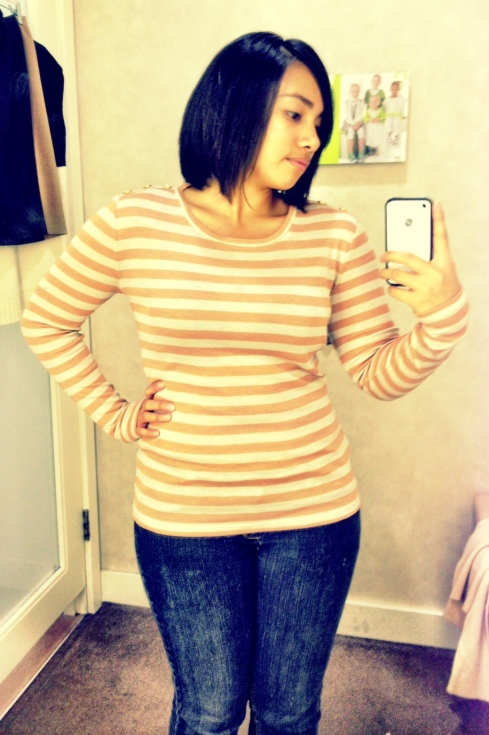 Ann Taylor Long Sleeve Stripped