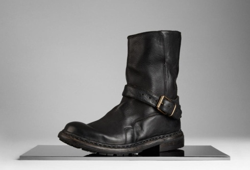 Burberry washed leather biker boots