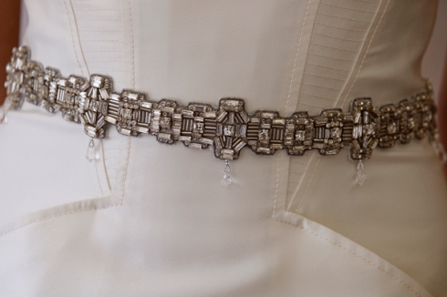 CAROLINA HERRERA BRIDAL FALL 2012 JEWELED BELT