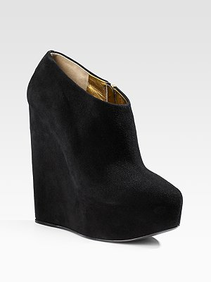 Dolce & Gabanna Black Wedge Ankle Boots
