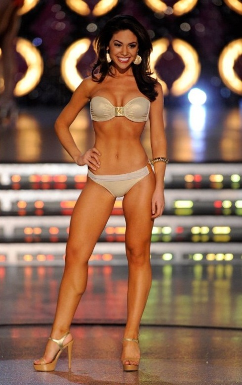 Miss America 2012 Miss California Noelle Freemand Swimsuit Front