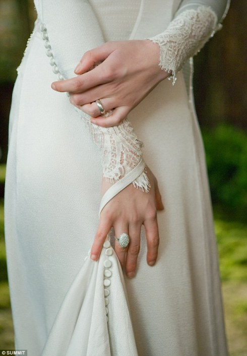 Twilight Breaking Dawn Bella wedding dress detail