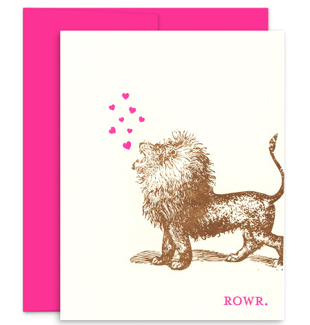Rowr Lion Stationary Card Notecard
