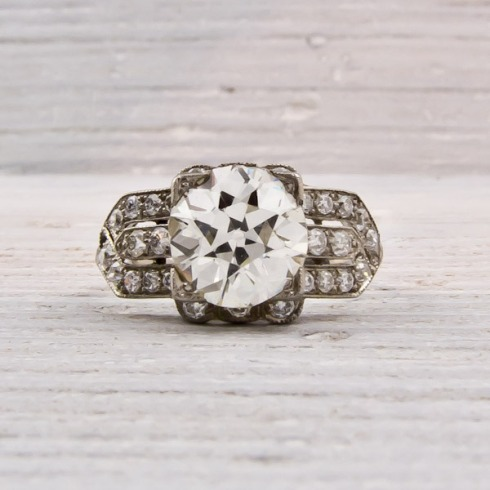 Erstwhile Jewelry Co. Antique Diamond Engagement Ring