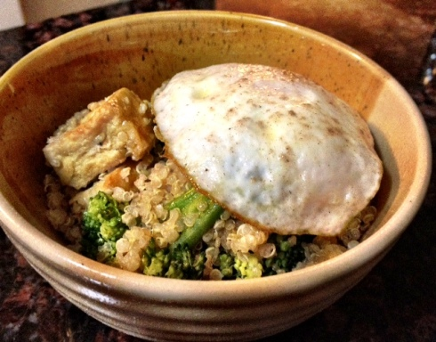 Tofu Quinoa and Broccoli