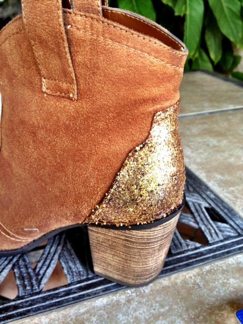 Glitter Boots Detail