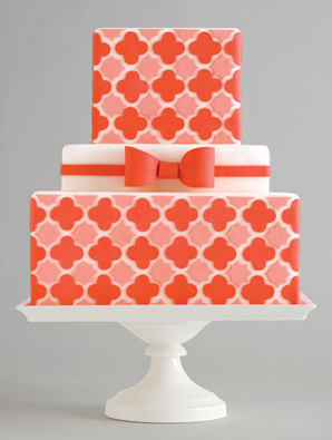 Bold Retro Pattern Wedding Cakes