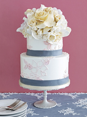 Sugar Flowers Wedding Cakes