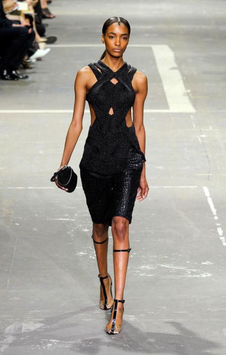 Alexander Wang Spring 2013 Black Cut Out Dress