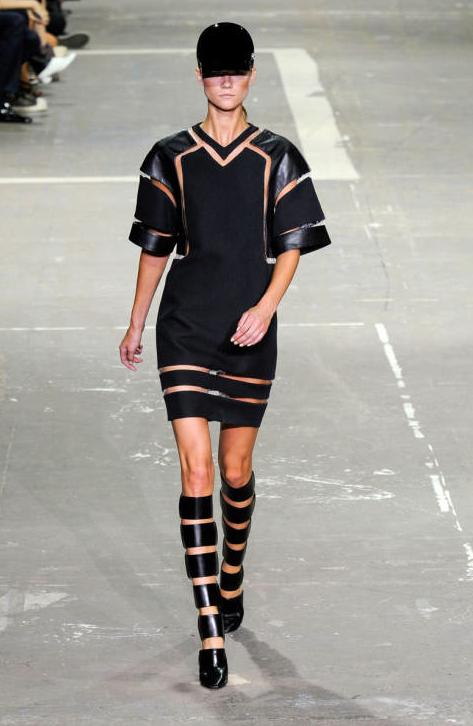 Alexander Wang Spring 2013 Black Cut Out Sleeve Dress