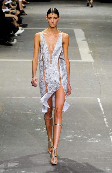 Alexander Wang Spring 2013 Cut Out Print Dress