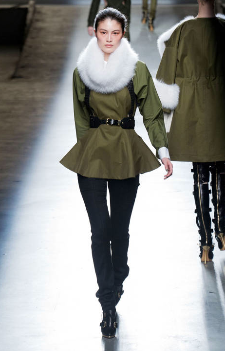 Prabal Gurung New York Fashion Week 2013 - While Fur Snood