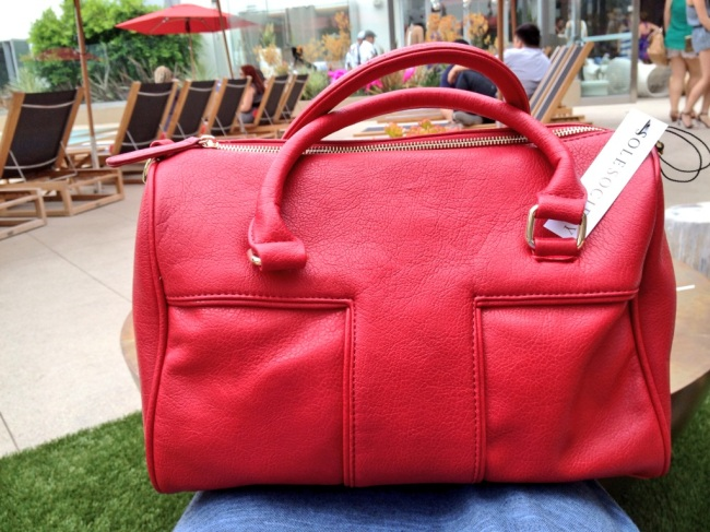 Sole Society Red Satchel Handbag