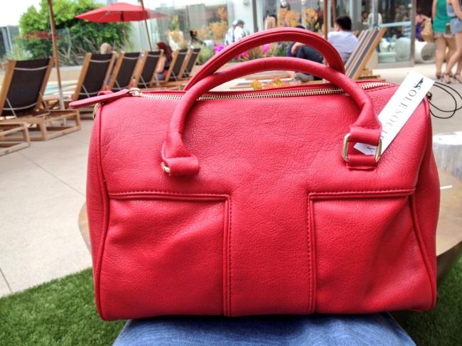 Sole Society Red Satchel Handbag